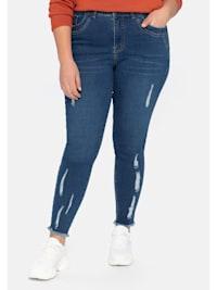 Ankle-Jeans «Die Skinny», mit Destroyed- und Used-Effekten