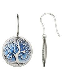 Lebensbaum-Ohrhaken in Silber 925