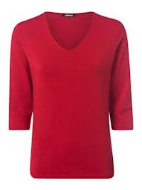 V-Shirt mit ¾-Ärmeln