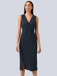 Kleid mit Wickel-Layer