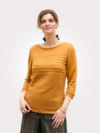 Pullover mit Strukturringel
