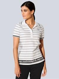 Poloshirt im exklusiven Alba Moda Dessin