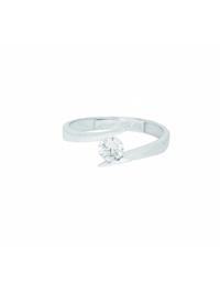 1001 Diamonds Damen Goldschmuck 333 Weißgold Ring mit Zirkonia