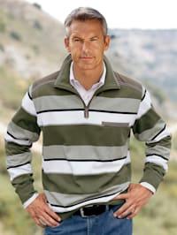 Sweatshirt met contrastkleurige paspels