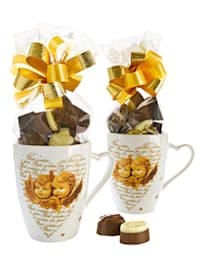 Ensembe de 2 mugs 'Ange' garnis
