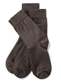 Chaussettes à pointes remaillées main