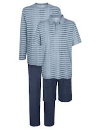 Pyjama ja shortsipyjama settinä