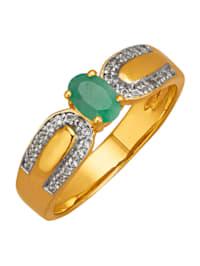 Damesring met smaragd