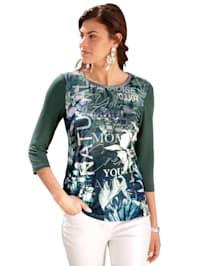 Shirt mit Blätterdruck