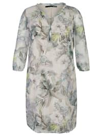 Kleid mit floralem Muster und V-Ausschnitt