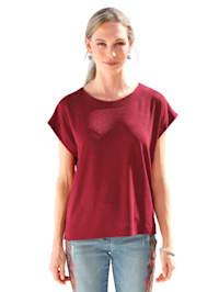 Shirt met glanseffect