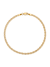 Bracelet Œil de tigre en or jaune 375