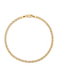 Tigeraugearmband in Gelbgold 375