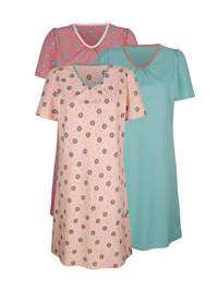 Nachthemden im 3er-Pack in angesagten Farbkombinationen