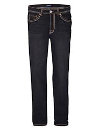 Jeans mit dicken Nähten
