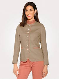 Jacket made from crease-resistant linen