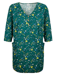 Longshirt met bloemenprint