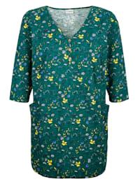 T-shirt long à imprimé floral