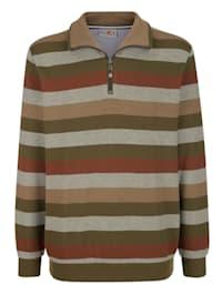 Sweatshirt med fräscha ränder
