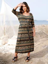 Robe longue à couture extensible à la taille
