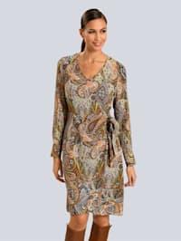 Kleid im Paisleydessin allover