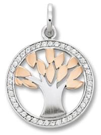 Damen Schmuck Anhänger Lebensbaum aus 925 Silber und Zirkonia