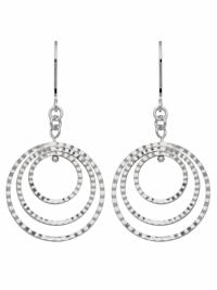 1001 Diamonds Damen Silberschmuck 925 Silber Ohrringe / Ohrhänger Ø 22,1 mm