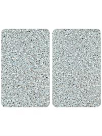 2er-Set Herdabdeckplatten 'Granit-Optik'