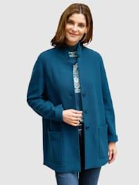 Veste en laine foulée en pure laine vierge