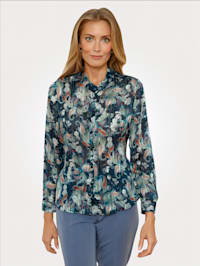 Bluse im Paisley-Floral-Dessin