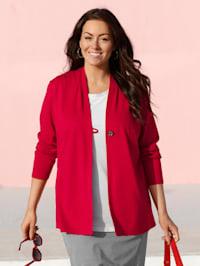 Veste en jersey à ravissants plis à l'encolure en V allongeante