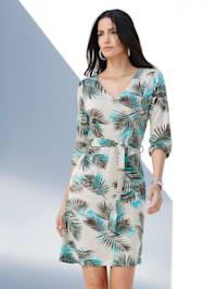 Kleid mit Palmendruck allover