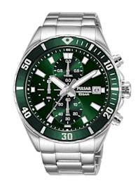 Herren-Chronograph Armbanduhr Grün