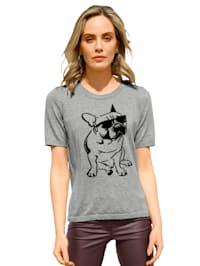 Pulovr s motivem psa na přední části