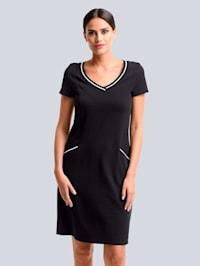 Jerseykleid aus hochweriger Piquée-Qualität