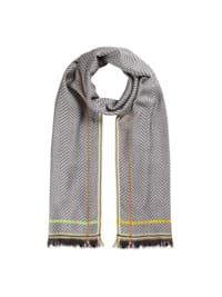 Fischgrät-Schal aus softer Viskose