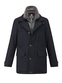 Vlnený kabát s CO-3 technológiou