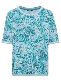 T-Shirt mit Aquarell-Print