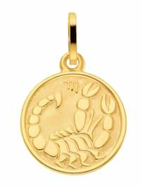 1001 Diamonds Damen & Herren Goldschmuck 333 Gold Sternzeichen Anhänger Skorpion Ø 11,8 mm