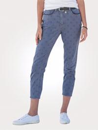 Jeans met ankerprint