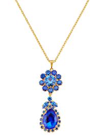 Halsband med blå kristaller