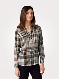 Blouse in a contemporary check print