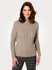Pullover mit querverlaufendem Strukturstrick