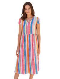 Kleid mit abstraktem Streifen