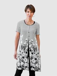Lange blouse in losjesvallend model