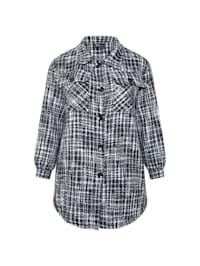 Cargojacke Tweed-Überhemd