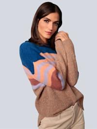 Pullover mit Streifendessin im Garnmix