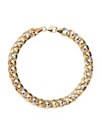 Bracelet en or jaune et or blanc 375