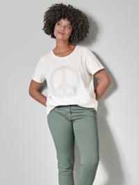 Shirt mit Peace Zeichen aus Dekosteinchen