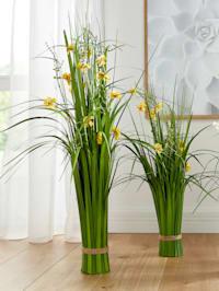 Gras met bloemen